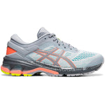 Asics Women's Kayano 26 Lite-Show Running Shoes Piedmount Grey / Sun Coral