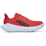 Hoka Men's Carbon X 2 Running Shoes Fiesta / White - achilles heel