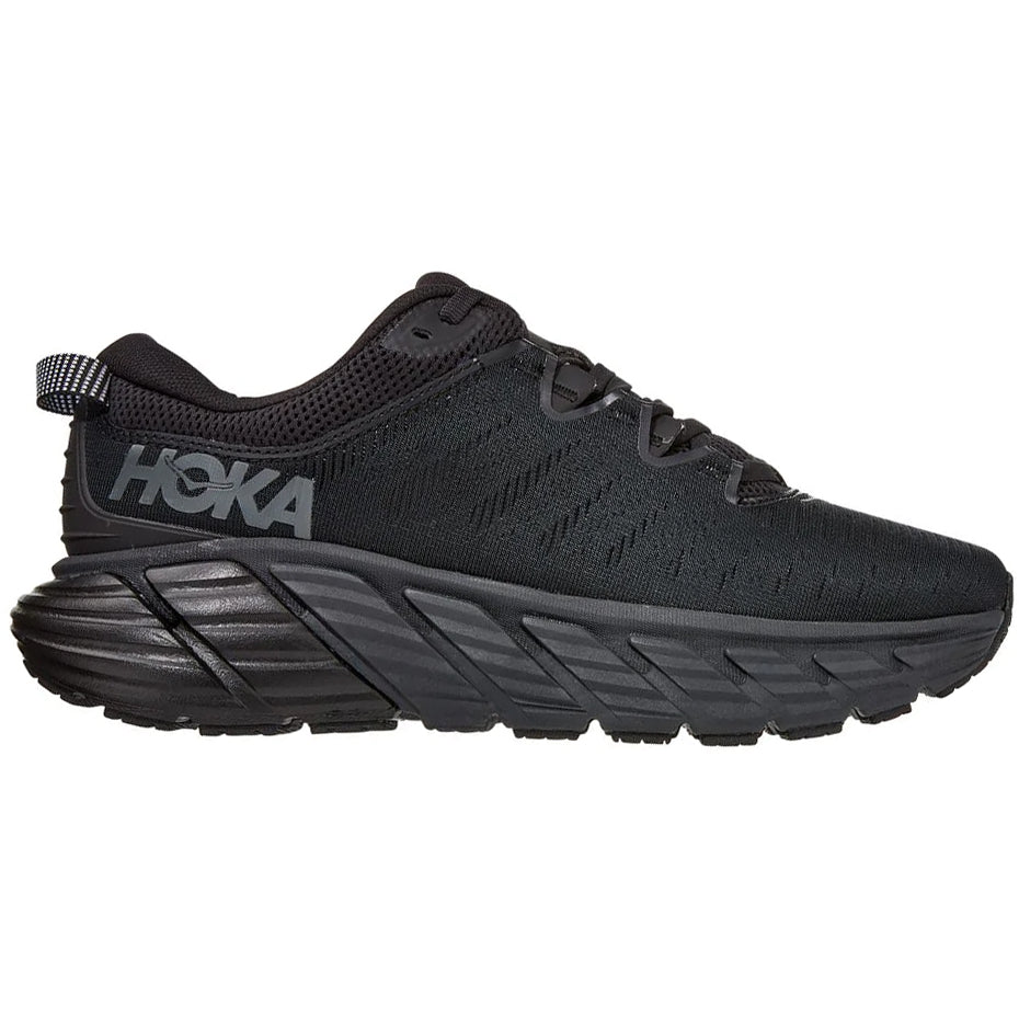 Hoka Women's Gaviota 3 Running Shoes Black / Black - achilles heel