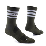 SAYSKY Combat High Socks Olive / White - achilles heel