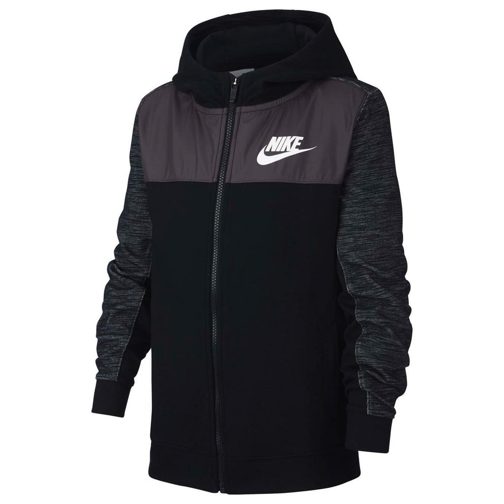 Nike Boys Sportswear Advance 15 Hoodie Black / Thunder Grey - achilles heel