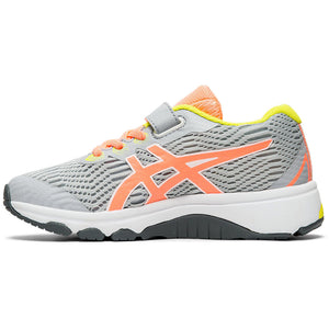 Asics Kids GT 1000 8 PS Running Shoes Piedmont Grey / Sun  Coral - achilles heel