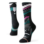 Stance Women's Corramos Crew Run Socks Black - achilles heel