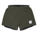 SAYSKY 2 In 1 Shorts Olive - achilles heel