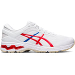 Asics Women's Gel-Kayano 26 Tokyo Running Shoes White / Classic Red - achilles heel