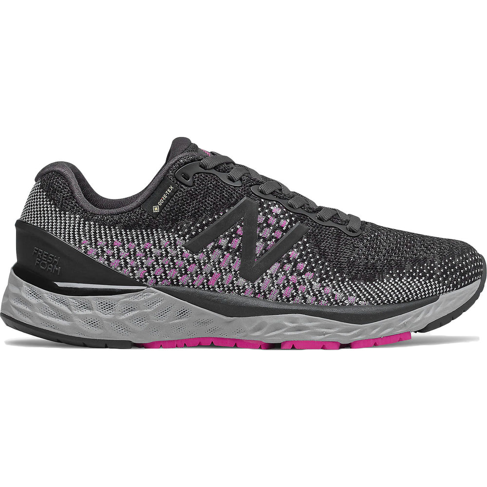 New Balance Women's 880GX10 GORE-TEX Running Shoes Silver Black / Thunder / Pink - achilles heel