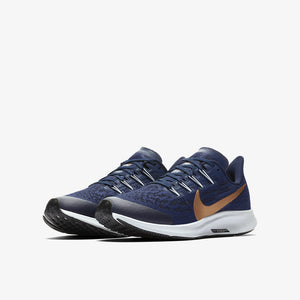 Nike Kids Air Zoom Pegasus 36 Running Shoes Midnight Navy / Metallic Red / Bronze Cool Grey