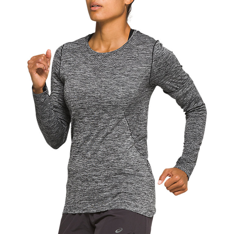 Asics Women's Race Seamless Top Performance Black - achilles heel