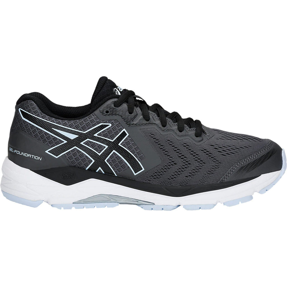 Asics Women's  Gel-Foundation 13 Running Shoes Dark Grey / Black - achilles heel