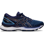 Asics Women's Gel-Nimbus 22 Running Shoes Grey Floss / Peacoat - achilles heel