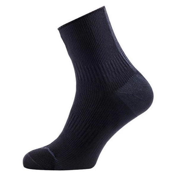 SealSkinz Road Ankle Length Socks Black /  Anthracite - achilles heel