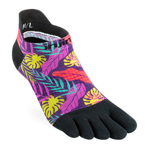 Injinji Women's Run Lightweight No-Show Socks Lush - achilles heel