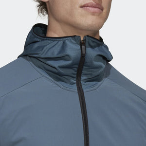 adidas Men's Terrex Skyclimb Fleece Jacket Legacy Blue - achilles heel