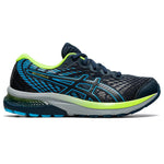 Asics Kids Gel Cumulus 22 GS Running Shoes French Blue / Hazard Green - achilles heel