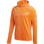 Adidas Men's Own The Run Warm Hoodie App Signal Orange - achilles heel