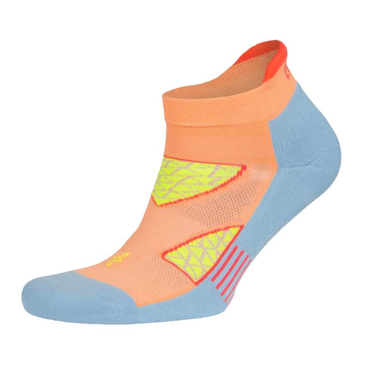 Balega Women's Enduro No-Show Running Socks Peach / Ethereal Blue - achilles heel
