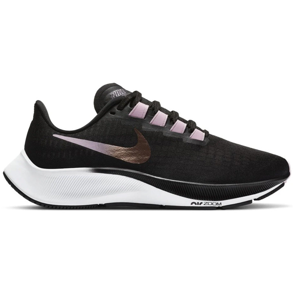 Nike Women's Air Zoom Pegasus 37 Running Shoes Black / Metallic Red / Bronze - achilles heel
