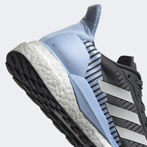 adidas Women's Solar Glide ST 19 Running Shoes Grey / Glow Blue