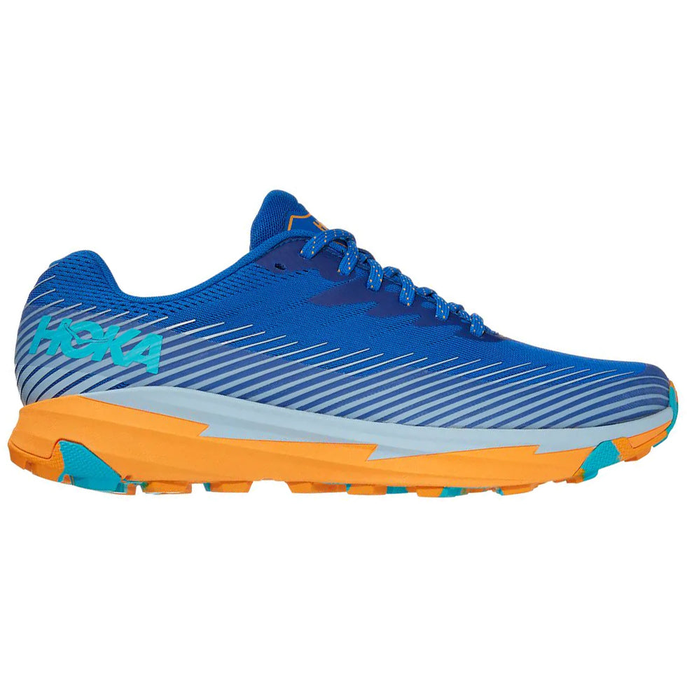 Hoka Men's Torrent 2 Trail Running Shoes Turkish Sea / Saffron - achilles heel