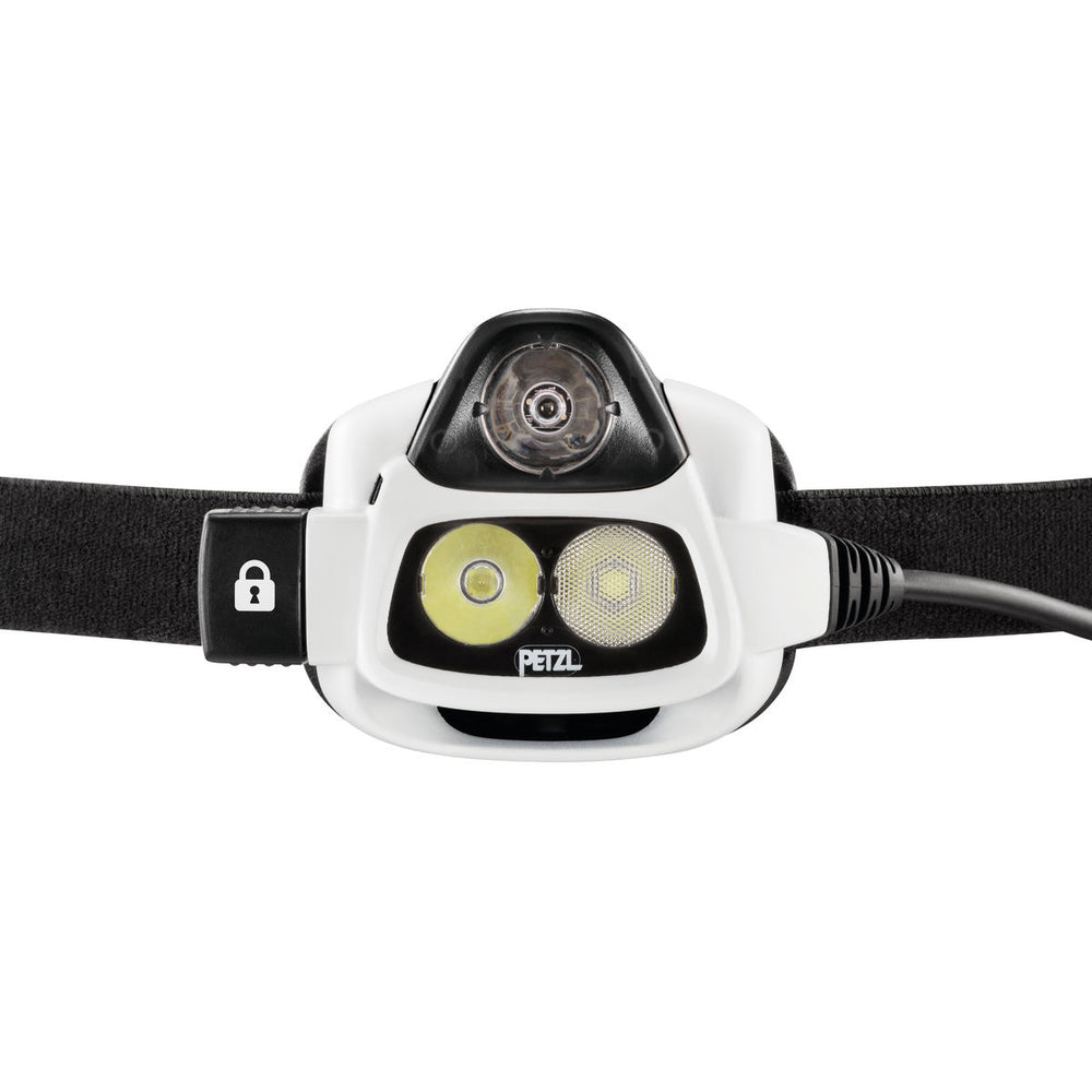 Petzl NAO Head Torch Black / White - achilles heel