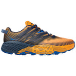 Hoka Men's Speedgoat 4 Trail Running Shoes Saffron /  Black Iris