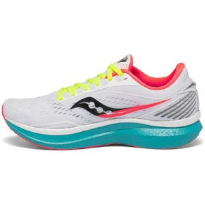 Saucony Men's Endorphin Speed Running Shoes White / Mutant - achilles heel