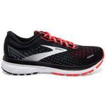 Brooks Women's Ghost 13 Running Shoes Black / Ebony / Coral - achilles heel