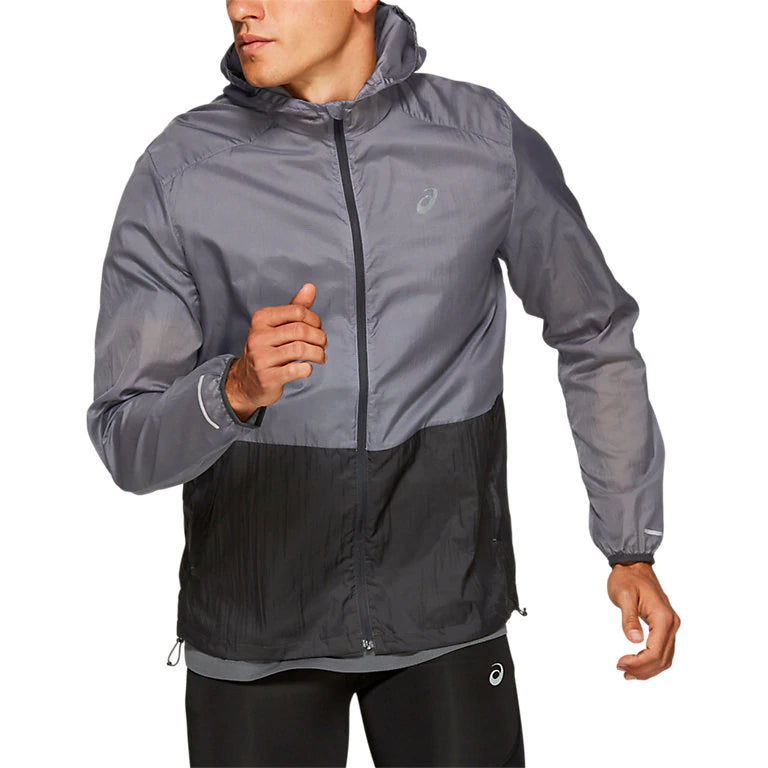 Asics Men's Packable Jacket Grey