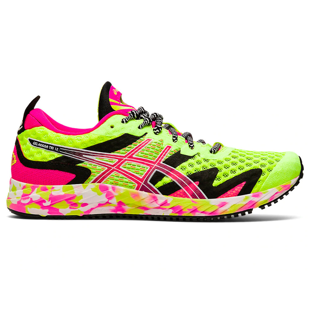 Asics Women's Gel-Noosa TRI 12 Running Shoes Safety Yellow / Pink Glo - achilles heel