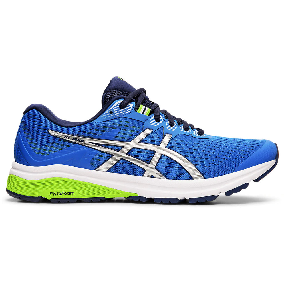 Asics Men's GT 1000 8 Running Shoes Electric Blue / Silver - achilles heel