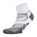Balega Enduro V-Tech White & Grey Running Socks - achilles heel