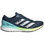 adidas Women's adiZero Boston 9 Running Shoes Crew Navy / Crystal White / Clear Aqua - achilles heel