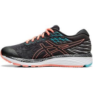 Asics Women's Cumulus 21 Lite-Show Running Shoes Graphite Grey / Sun Coral