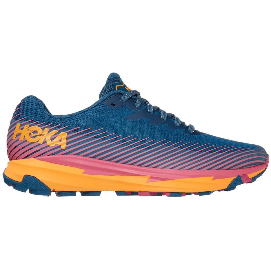 Hoka Women's Torrent 2 Trail Running Shoes Moroccan Blue / Saffron - achilles heel