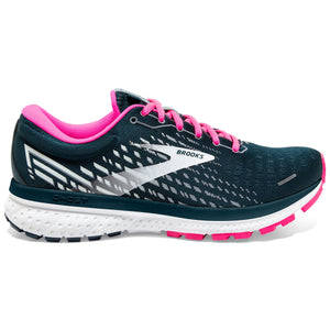 Brooks Women's Ghost 13 Running Shoes Reflective Pond / Pink / Ice - achilles heel