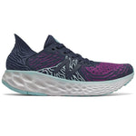 New Balance Women's 1080v10 Running Shoes Plum / Natural Indigo / Bali Blue - achilles heel