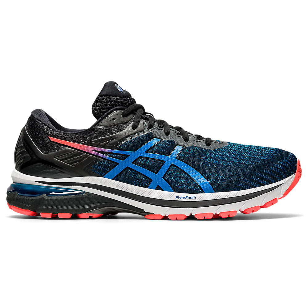 Asics Men's GT-2000 9 Running Shoes Black / Directoire Blue - achilles heel
