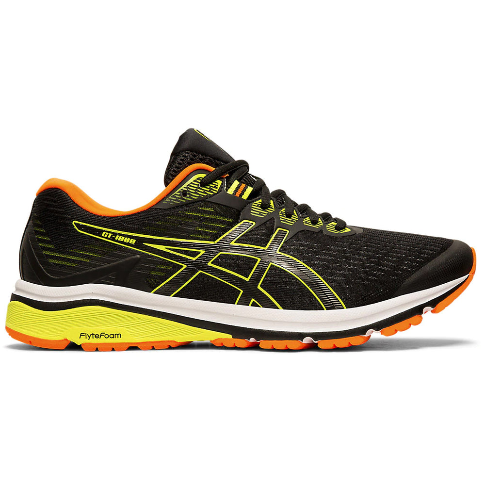 Asics Men's GT 1000 8 Running Shoes Black / Safety Yellow