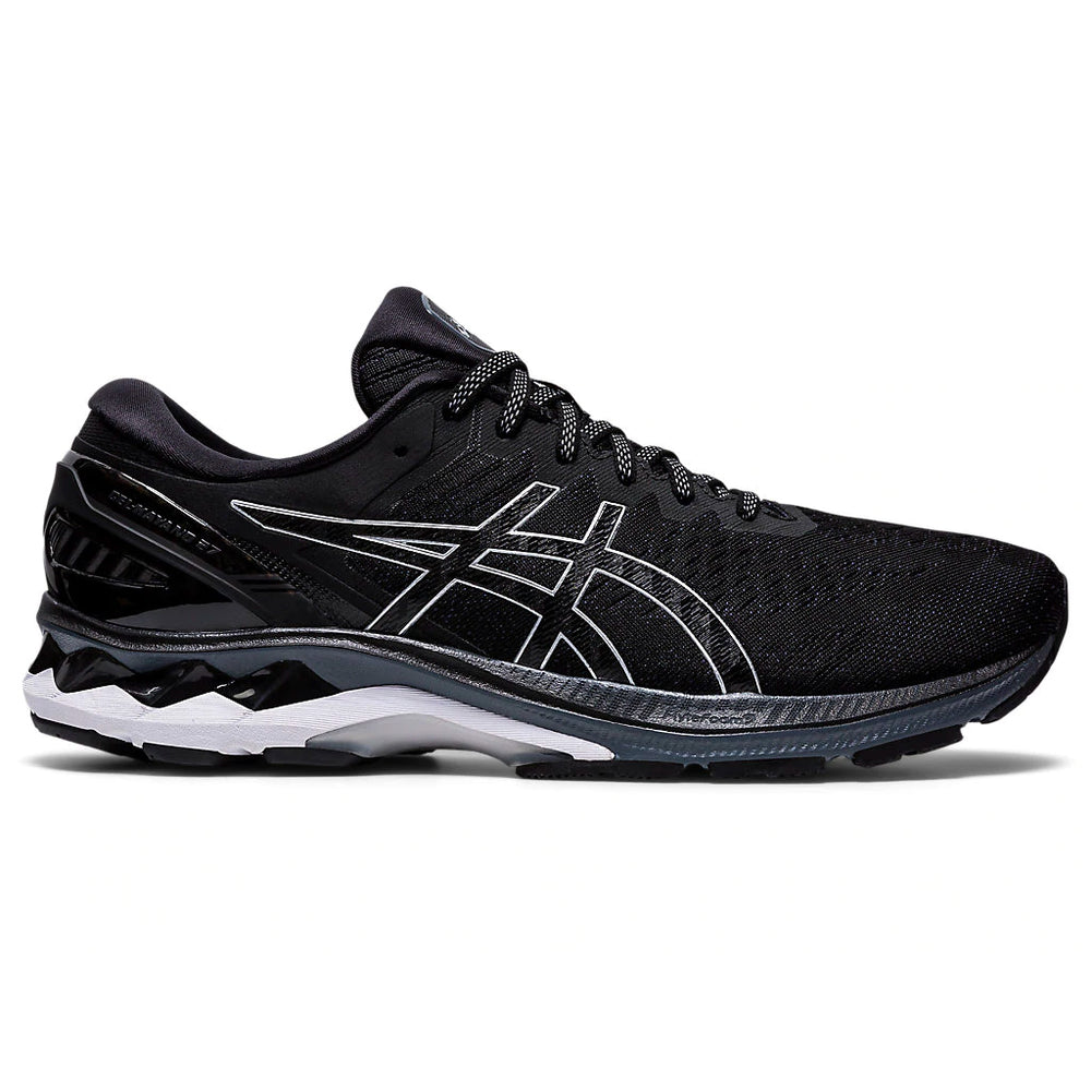 Asics Men's Gel-Kayano 27 Running Shoes Black / Pure Silver - achilles heel