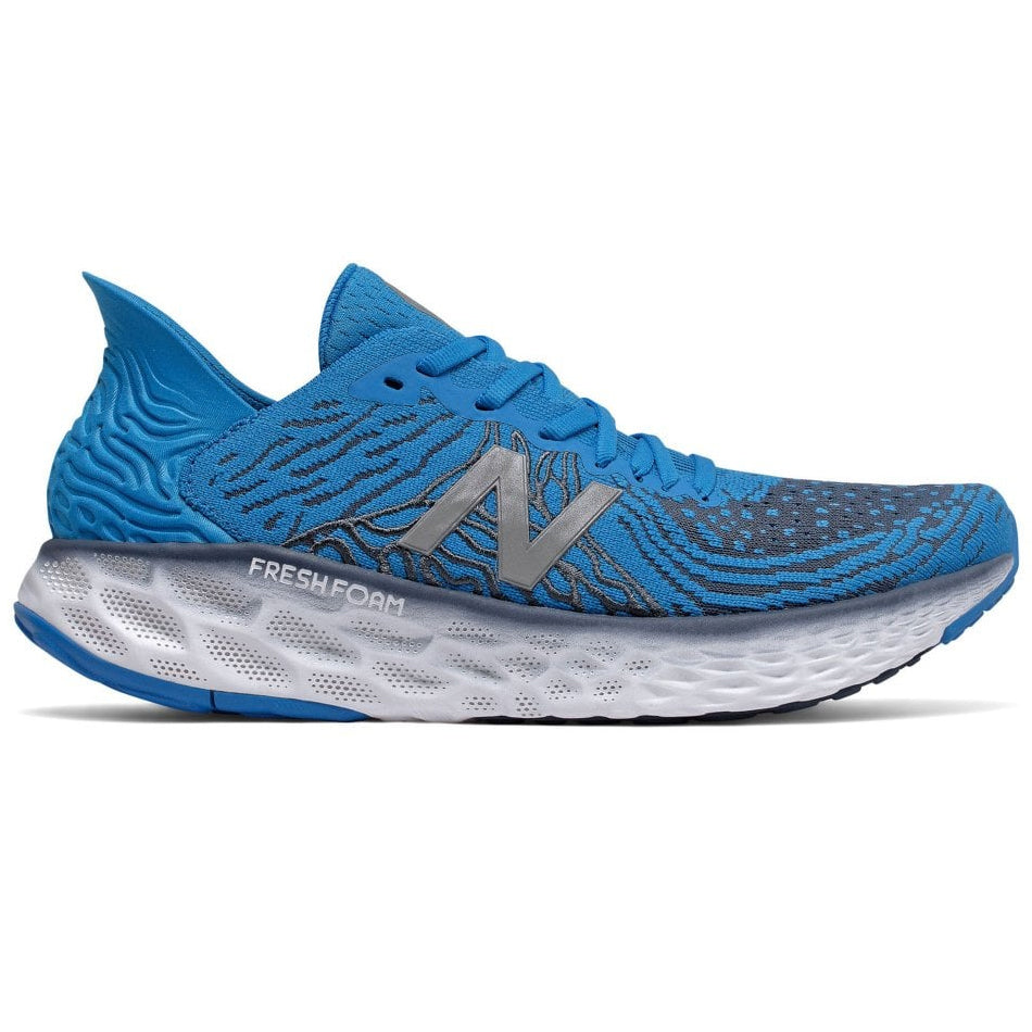 New Balance Men's 1080v10 Running Shoes Vision Blue / Vintage Indigo / Grey - achilles heel