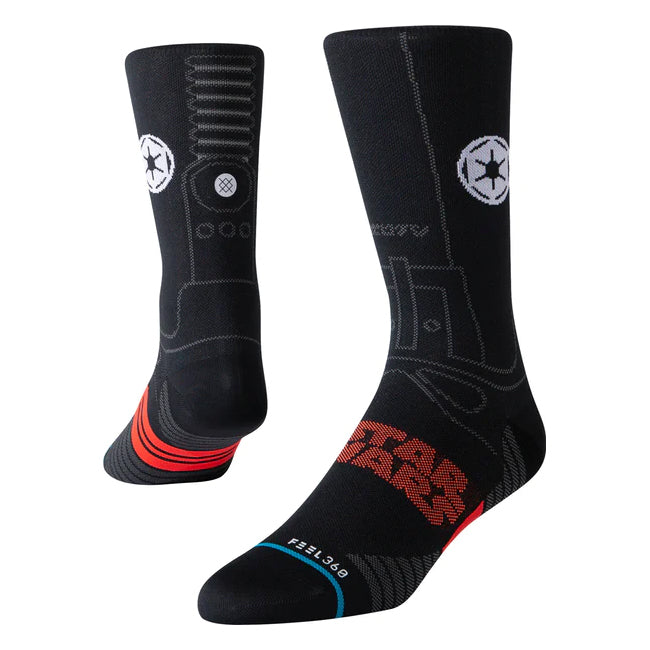 Stance Men's Star Destroyer Crew Run Socks Black - achilles heel