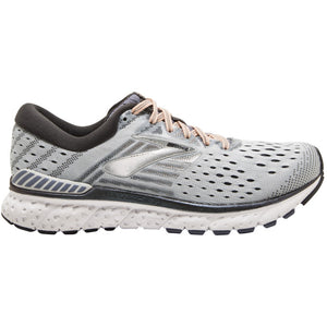 Brooks Women's Transcend 6 Running Shoes Grey / Pale Peach / Silver - achilles heel