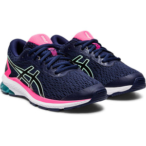 Asics Kids GT 1000 9 GS Running Shoes Peacoat / Black - achilles heel