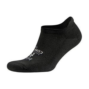 Balega Hidden Comfort Running Socks Black - achilles heel