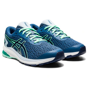 Asics Kids GT 1000 9 GS Running Shoes Grand Shark / Peacoat - achilles heel