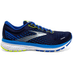 Brooks Men's Ghost 13 Wide Fit Running Shoes Peacoat / Indigo / Nightlife - achilles heel
