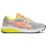 Asics Kids GT 1000 8 GS Running Shoes Piedmont Grey / Sun Coral - achilles heel