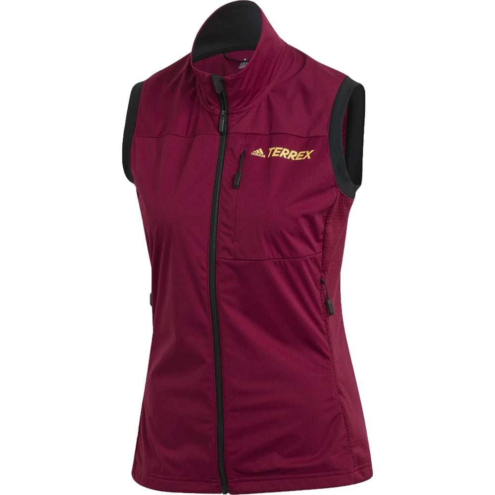 Adidas Women's Terrex Agravic XC Soft Shell Vest Power Berry - achilles heel