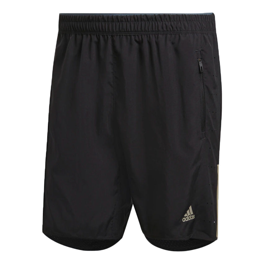 Adidas Men's Saturday Ultra 2 In 1 7 Inch Shorts Black / Legacy Blue - achilles heel