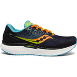 Saucony Men's Triumph 18 Running Shoes Future Black - achilles heel